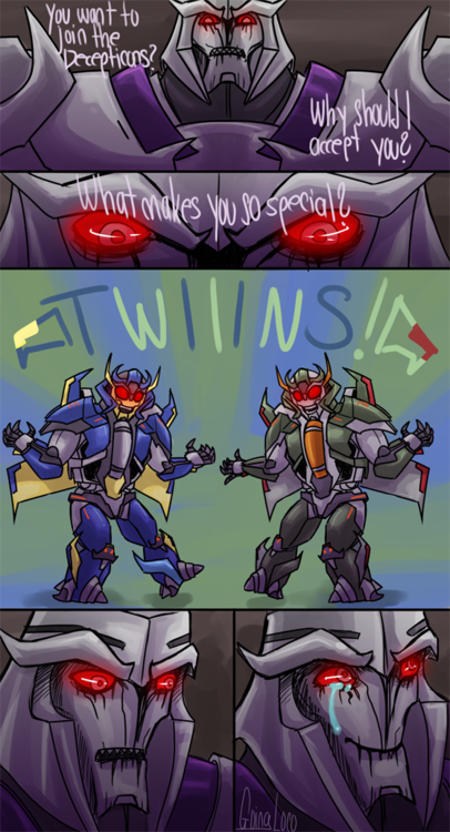 The recruitment of Skyquake and Dreadwing, Transformers ...