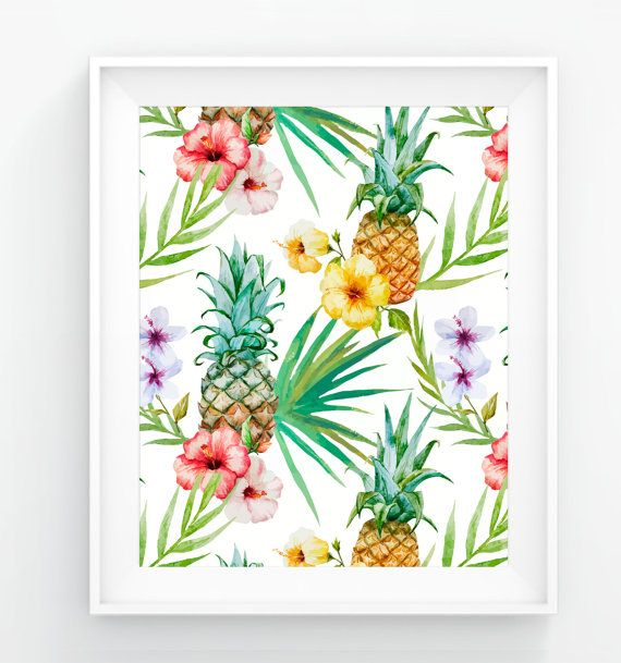 Hey, I found this really awesome Etsy listing at https://www.etsy.com/listing/267639610/pineapples-tropical-fruit-floral-digital