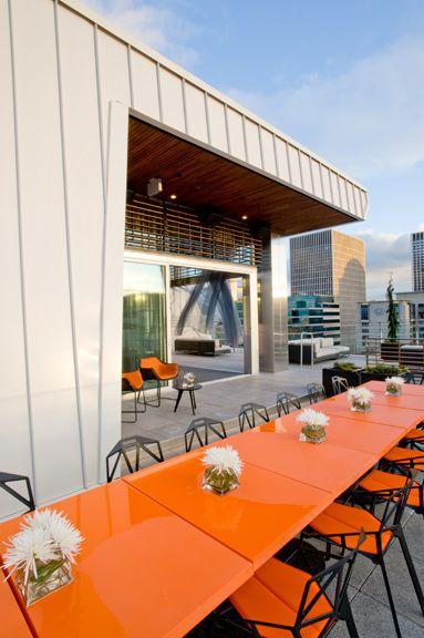 View Of Downtown Portland Modern Asian Restaurant Departure