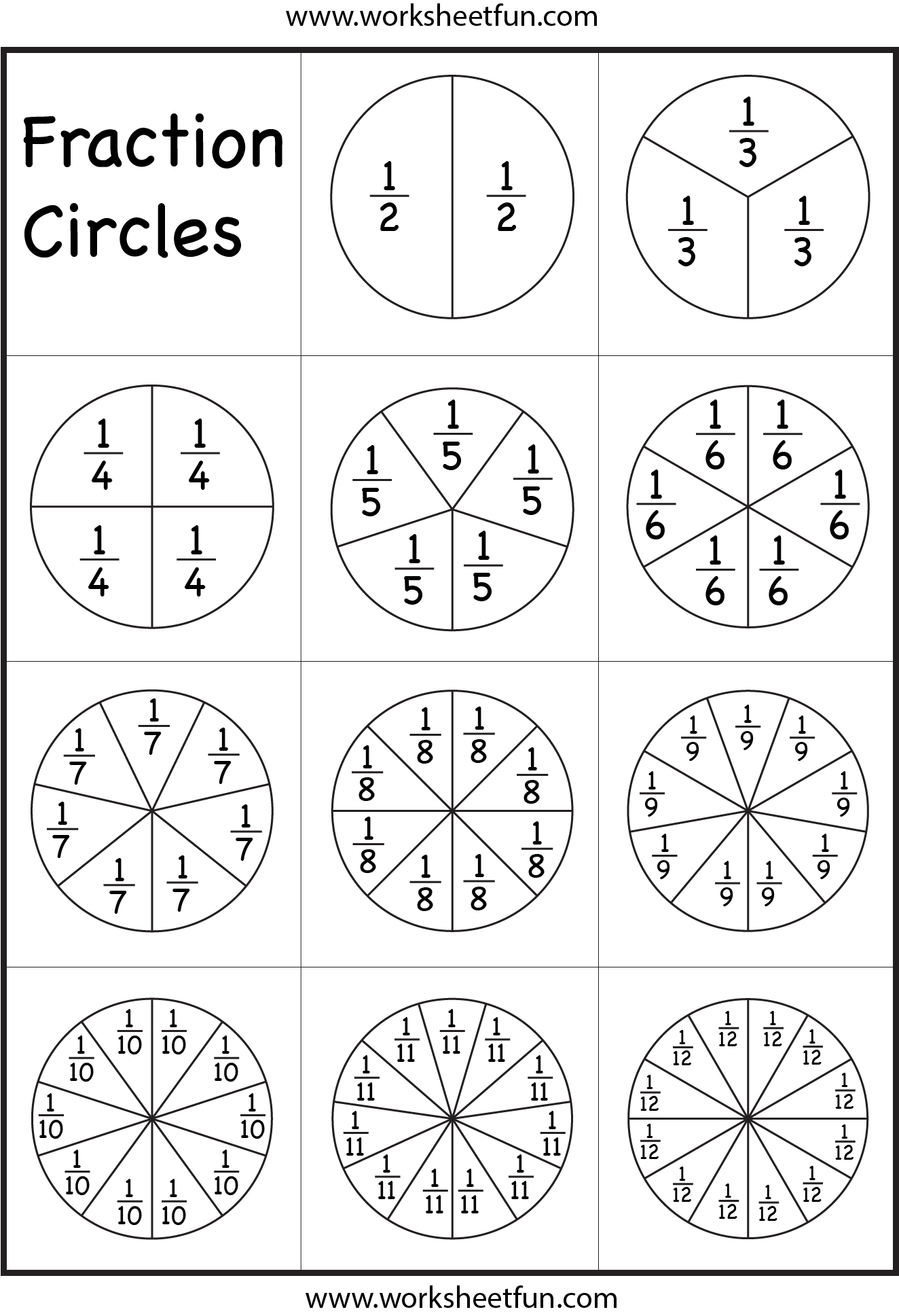Fraction Circles Hahaha I M 35 And I Need This Like You Don T Even Know Math Fractions Elementary Math Fractions Worksheets