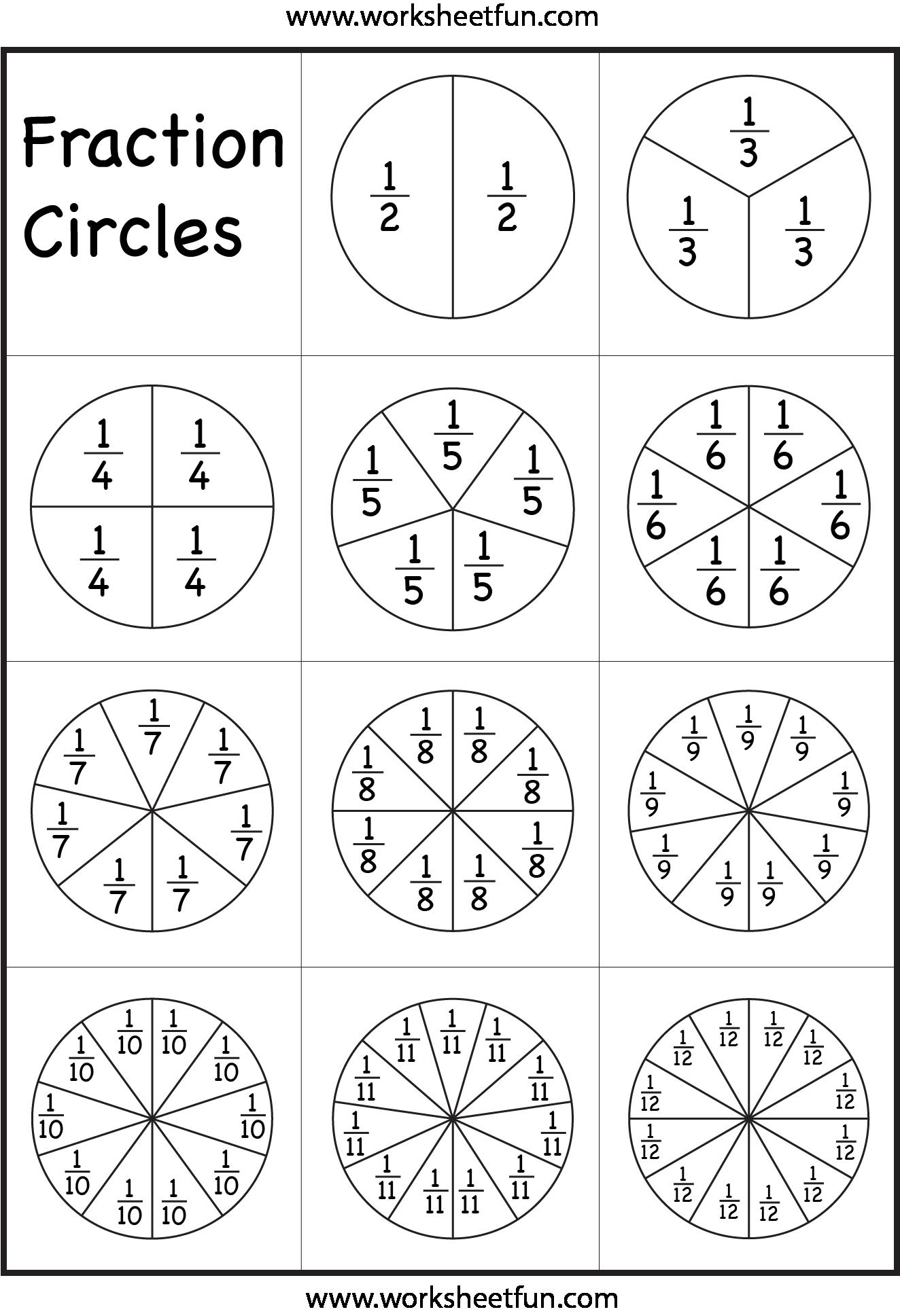 Fracciones En Circulos