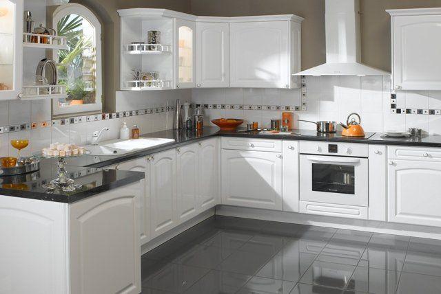 affordable ides pour une belle cuisine en blanc de vos. Black Bedroom Furniture Sets. Home Design Ideas