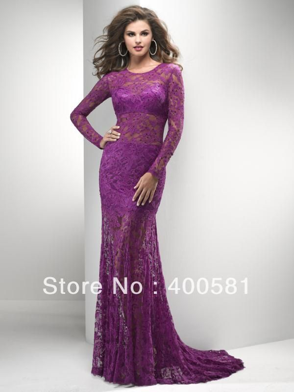 Images of Lace Long Dresses - Reikian