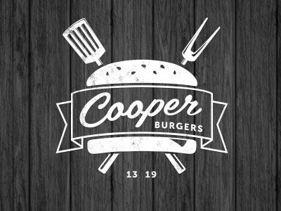 Cooper Burgers Logo Design 25 Cool & Creative Fast Food & Drink Logos For Inspiration