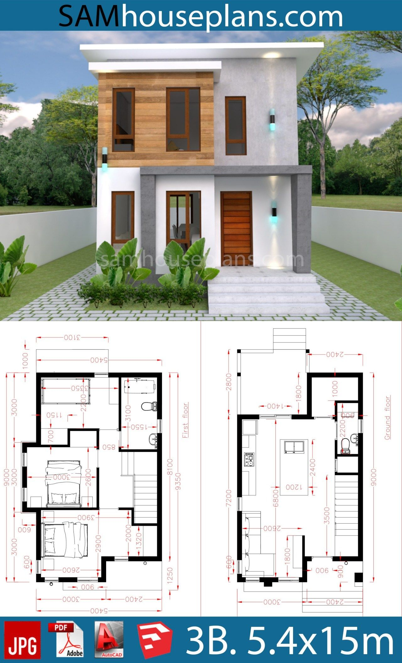 House Plans 12.12x12m with 12 Bedroom   Sam House Plans   Dream house ...
