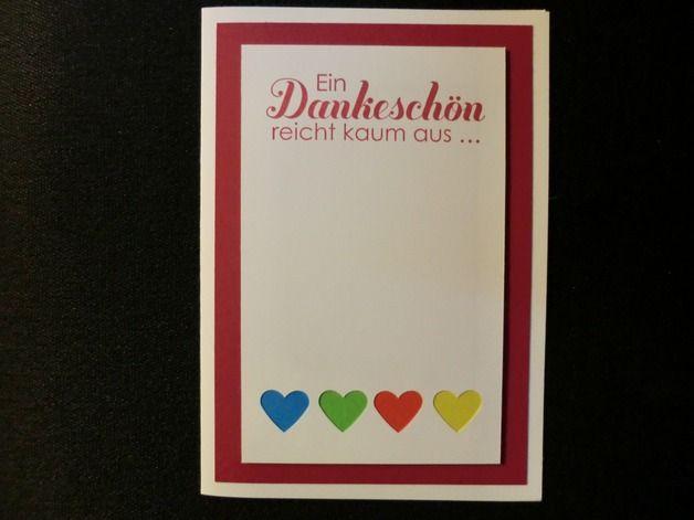 Danksagung - Ein Dankeschön reicht kaum aus - Grußkarte - ein Designerstück von kreativesherzerl bei DaWanda