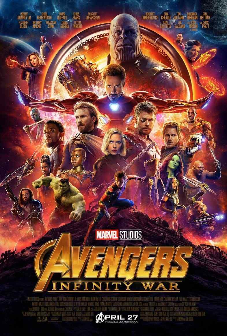 Avengers Infinity War Original Ds 27x40 Movie Poster Final Version Iron Man Circuit Superhros Marvel Comics Logostore Marvels Features All Of The Superheroes And Villains From Upcoming Blockbuster Filmthanos Captain Amer