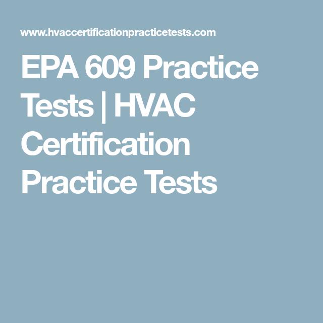 EPA 609 Practice Tests   HVAC Certification Practice Tests   Auto ...