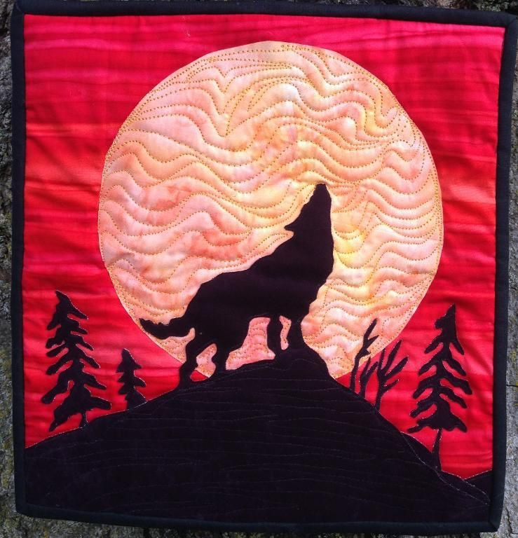 Easy applique pattern wolf   Wolf, Moon and Easy : easy applique quilts - Adamdwight.com