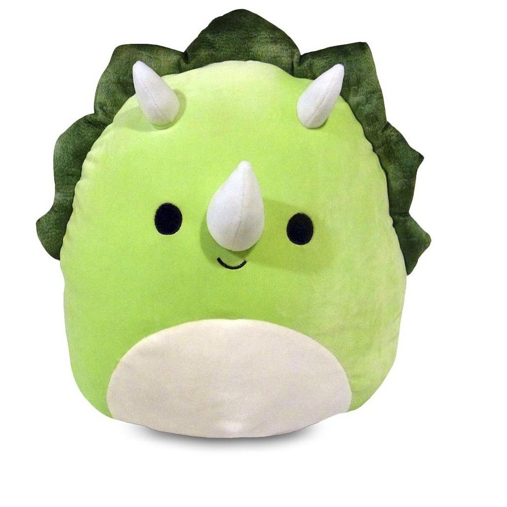 Squishmallows 12 Inch Plush Tristan The Green Triceratops Cute Stuffed Animals Animal Pillows Pillow Pals