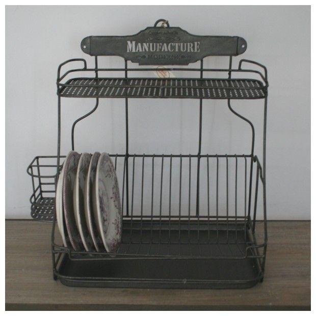 Egouttoir zinc d co cuisine r tro comptoir de famille d co cuisine pinterest cuisines - Comptoir de famille vaisselle ...