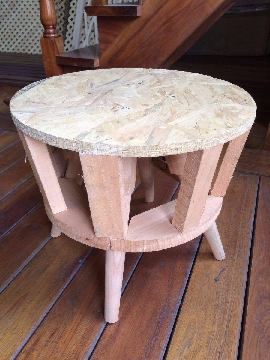 Estructura De Puff Redondo Estilo Retro O Escandinavo Estilo  # Muebles Puffs Baratos