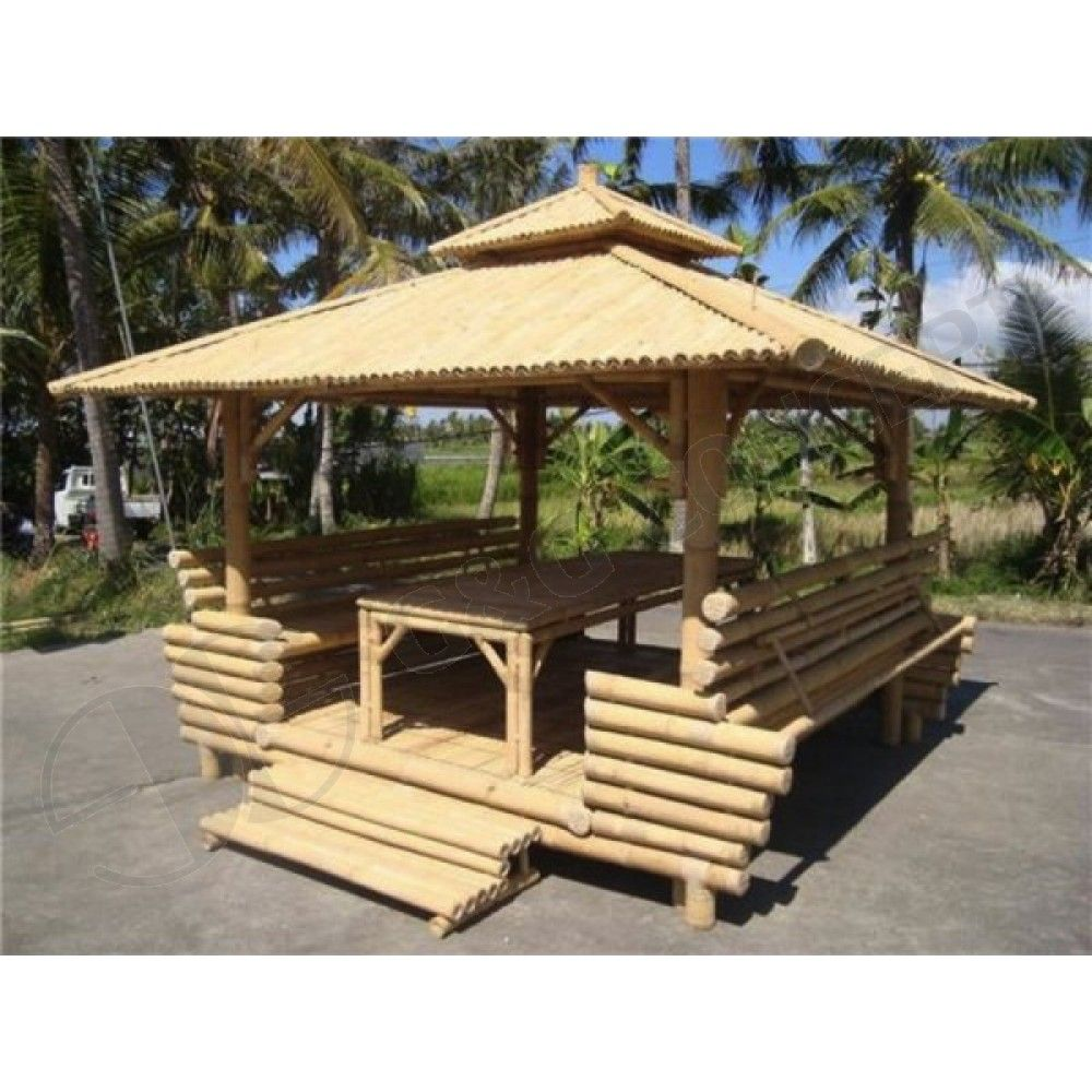 Garden Furniture Gazebo gb201-bamboo gazebo-garden bamboo gazebo with bamboo roof,1 table