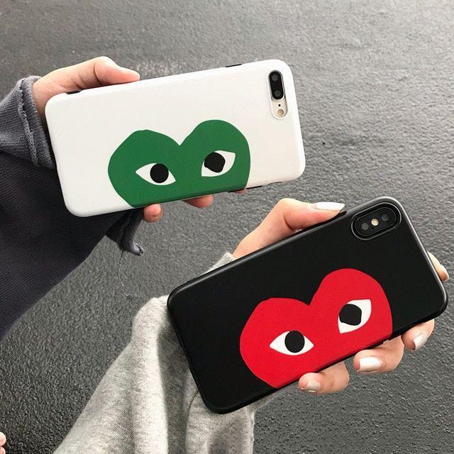 quality design bb8d0 6736e Love Play Comme Des Garcons iPhone Case di 2019 | Love Heart ...