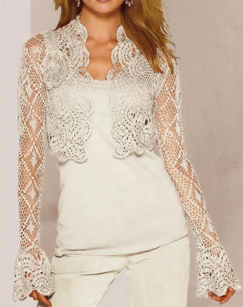 Crochet Sweaters: Crochet Bolero Pattern - Gorgeous Bolero Jacket ...