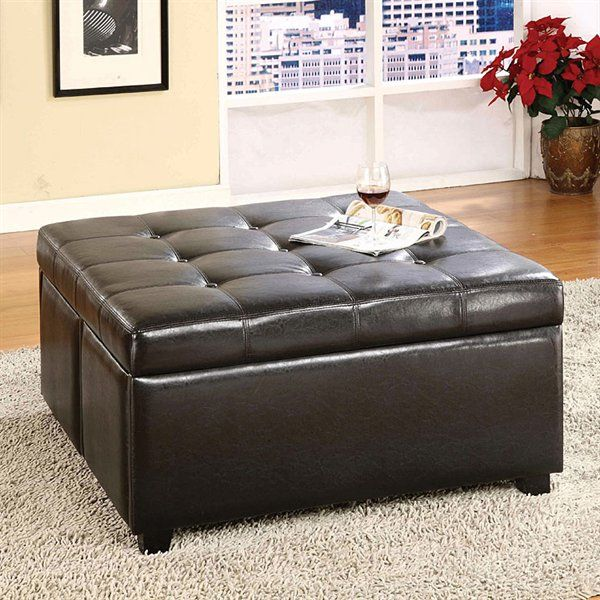 Furniture Of America Cm Bn6381 Petula Storage Ottoman With Drawers Home Showroom