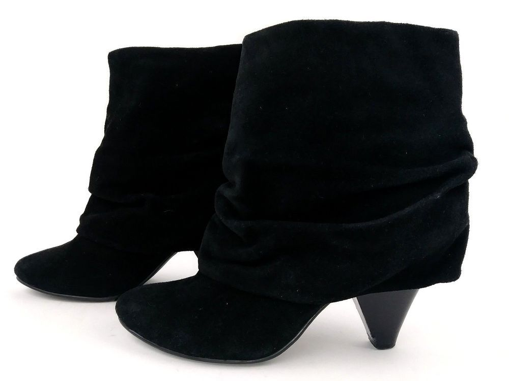 afcc2aa3c Steve Madden Womens Carlsen Ankle Boots 6.5 Black Suede Leather Slouch  Booties #SteveMadden #AnkleBoots