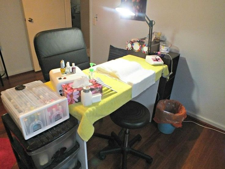 nail station set up ideas nail technician room decor
