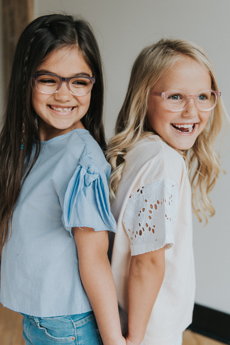 577949b1bbeb Fashionable pink and purple girls glasses! These prescription eyeglasses  for kids are easy to order online and your children can even try them at  home ...