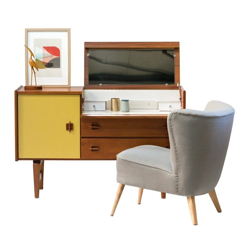 Meuble rangement enfilade buffet bas commode coiffeuse années 50