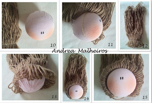 Amigurumi Hair Tutorial : Doll hair tutorial soft dolls and teddy bears pinterest doll