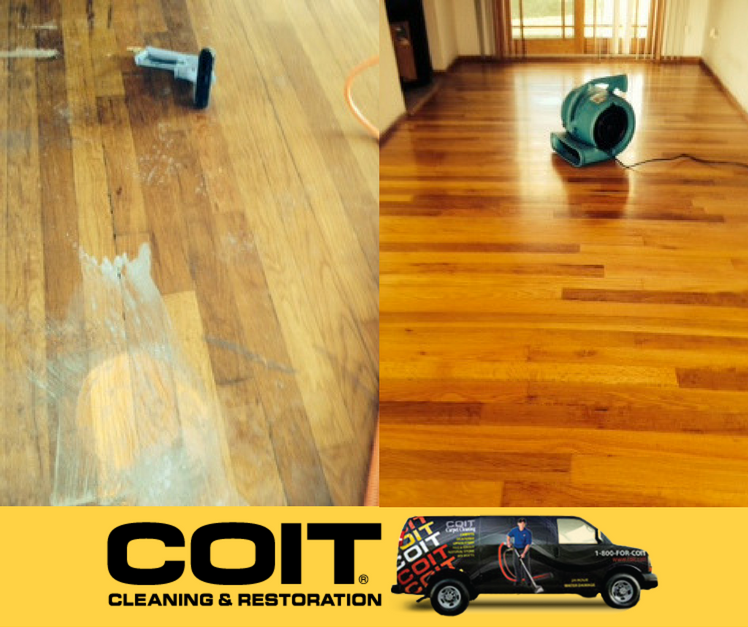 Check out these hardwood floors before and after we