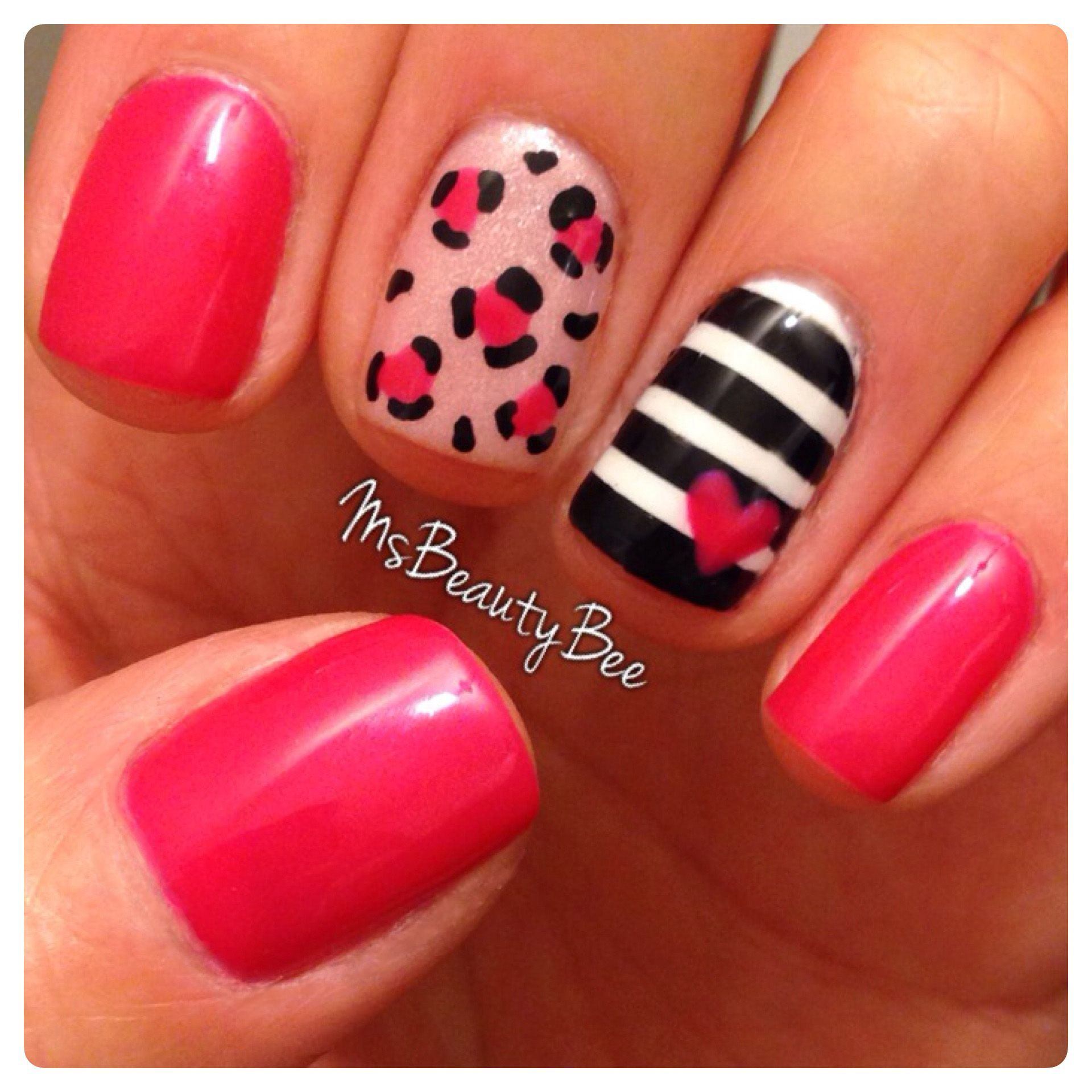 Leopard, Stripes, Hearts, and Pink Nails. Gelish - Gossip Girl ...