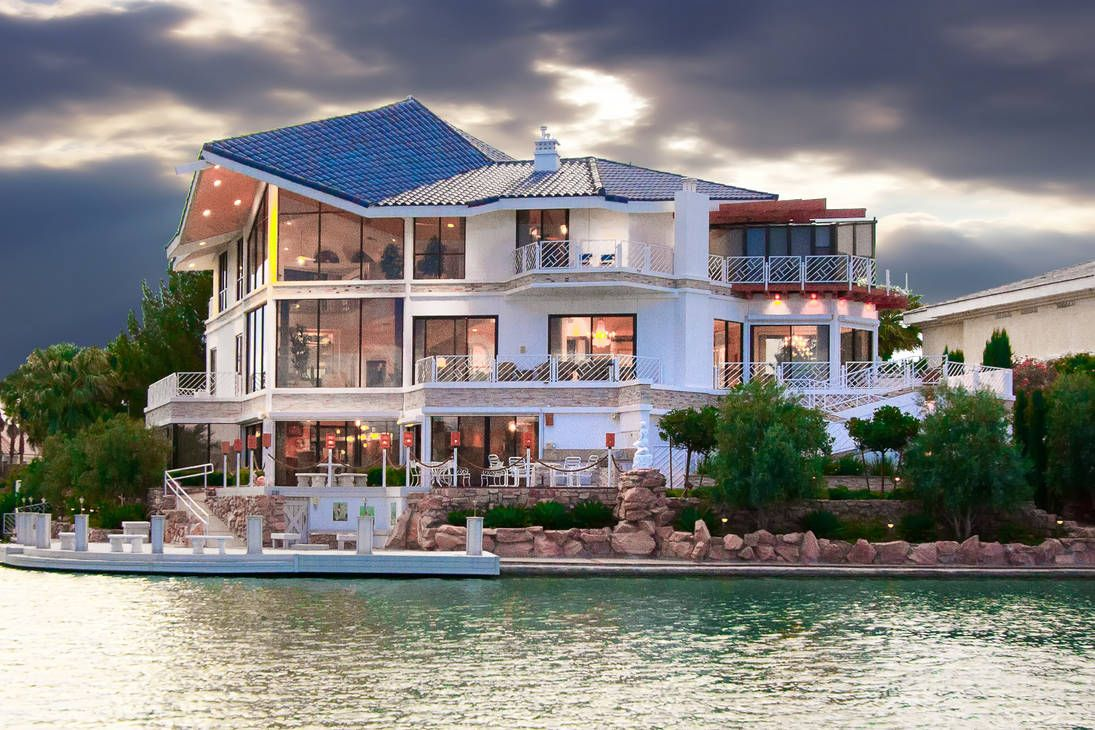Las Vegas Lake Front Homes Vegas Lakefront Luxury Homes Mansions Extravagant Homes Mansions For Sale