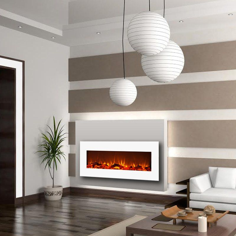Krish Wall Mounted Electric Fireplace With Images Fireplace