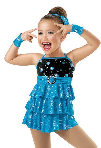 75fb6b36819c Girls  Tiered Sequin Jazz Dress  Weissman Costumes