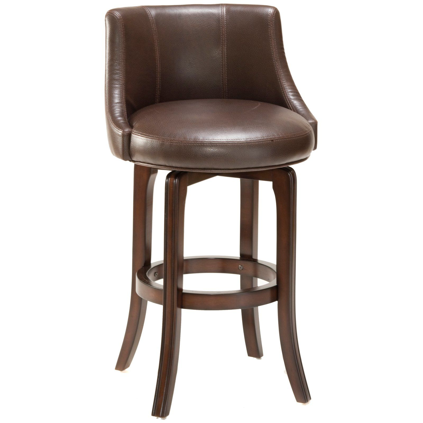 Have to have it hillsdale napa valley 30 in swivel bar stool brown leather seat 279 99 hayneedle