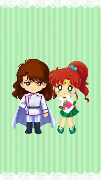 Nephrite & Jupiter (Sailor Moon Drops Game)