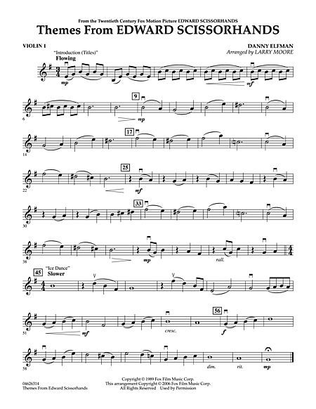Themes From Edward Scissorhands Violin 1