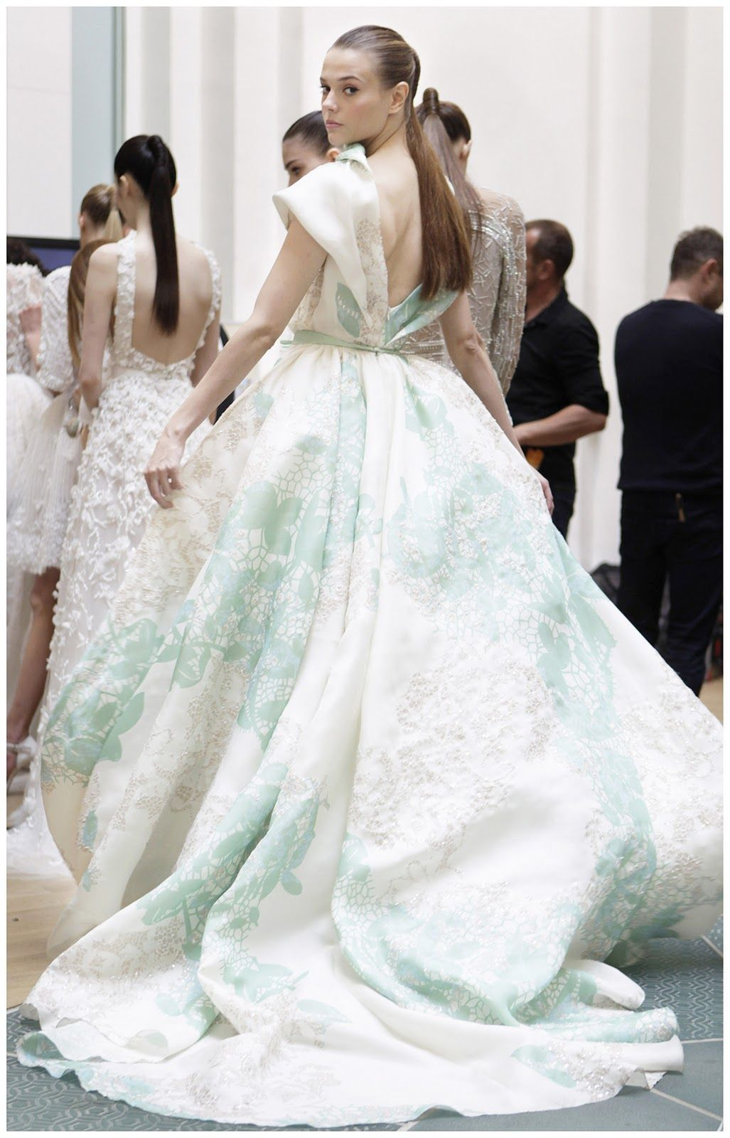 Cinderella inspired wedding dress  A moment of obsession Elie Saab  Elie saab spring Couture and Stage
