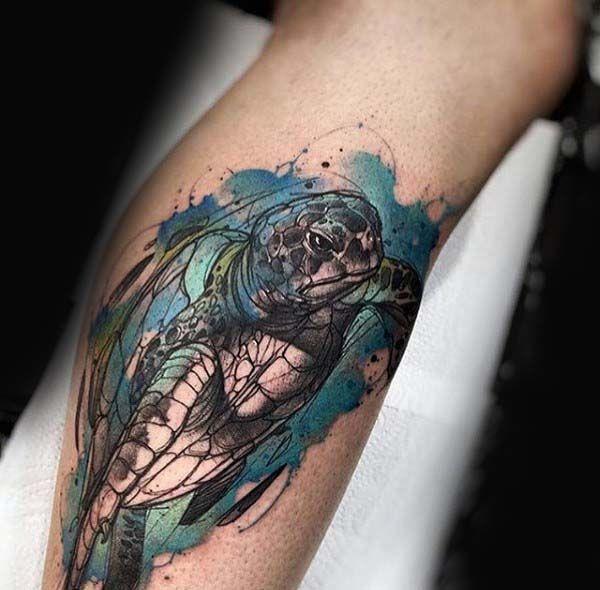 Turtle Tattoos for Men | Turtle tattoo designs, Tattoo ...