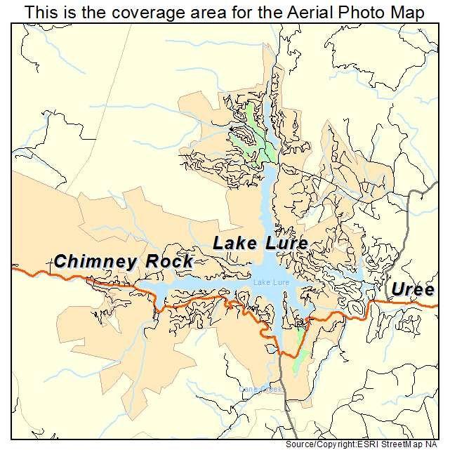 Lake Lure NC Lake Lure NC North Carolina Aerial Photography Map - North carolina lakes map