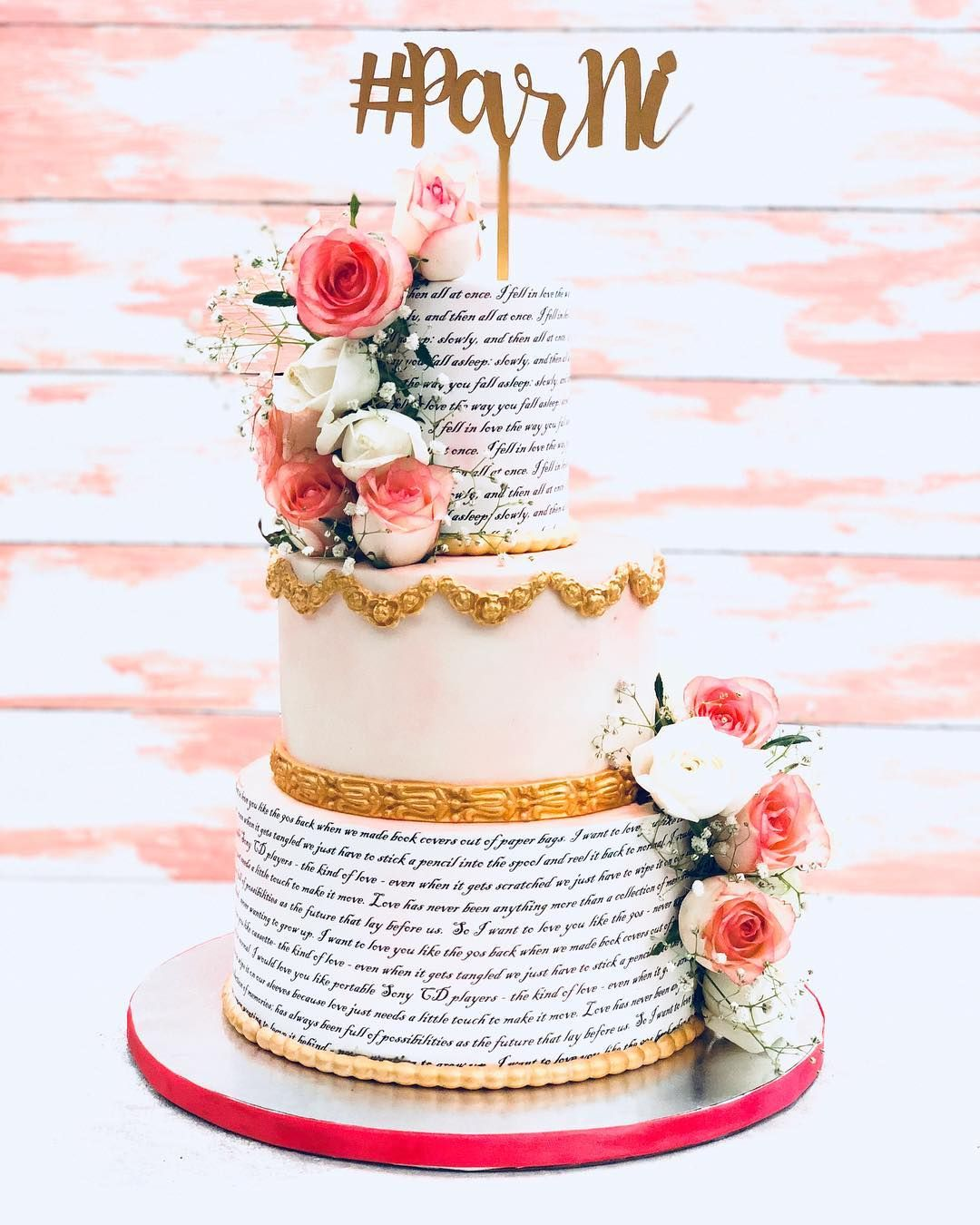 13 Awesome Engagement Cake Designs We Spotted By Indian Bakers The Urban Guide Engagement Cake Design Cake Designs Big Wedding Cakes