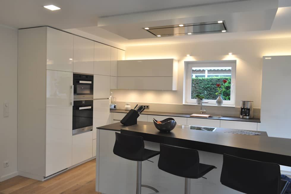 wohnideen küche moderne kücheninsel bodenbelag holzoptik Küche - bodenbeläge für küche