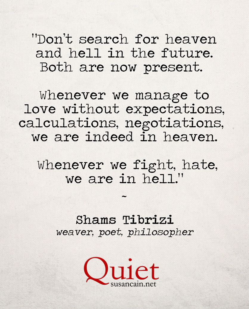 15 Powerful Quotes From The Forty Rules Of Love That: Shams Tabrizi On Heaven And Hell: