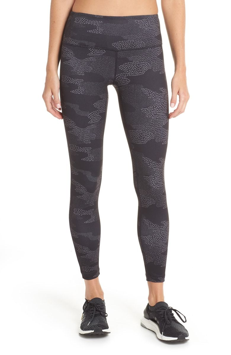 7c5ce1ae4d2b3 Zella Live In Midi Print Leggings in Black Dot Camo Print. Size Medium