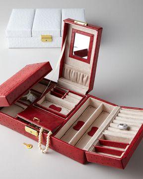 Rowallan of Scotland Meryl Ostrich Jewelry Box on shopstyle.com
