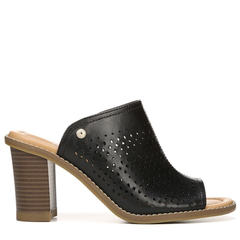 Dr. Scholl's Women's Promise Memory Foam Mule Shoes (Black Perf)