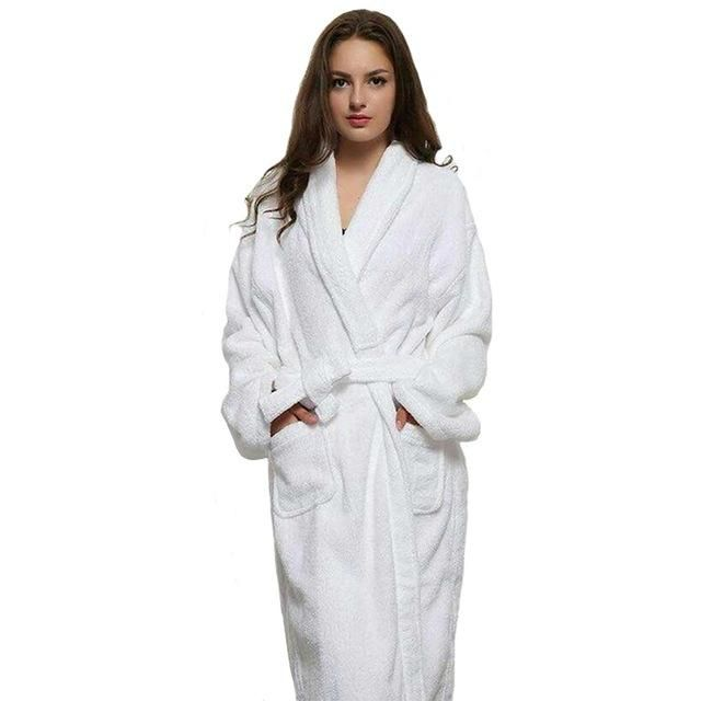Yjsfg House Long Unisex Winter Warm Dressing Gown Women And Men