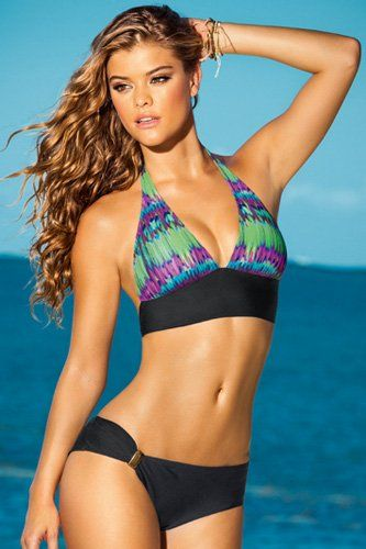 2a654353d050 Leonisa Sea Nymph Halter Bikini with Hip Hugger Bottom Swimsuit ...