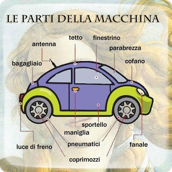 Learning Italian - Parts Of A Car
