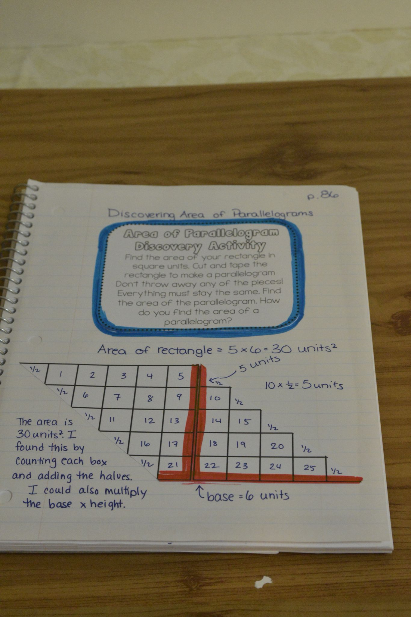 Area Of Polygons Interactive Notebook