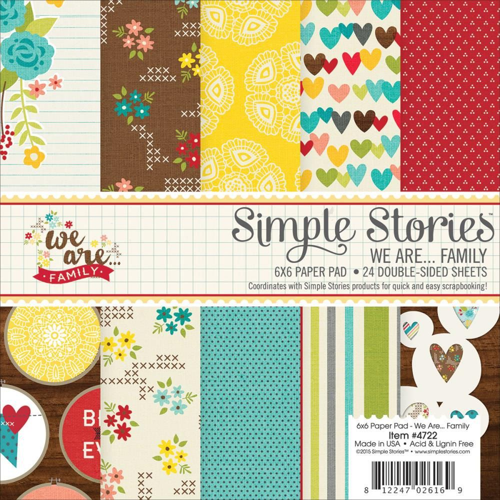 Paper Pads For Card Making Part - 44: We Are Family 6x6 Paper Pad Simple Stories Scrapbook Card Making Happy  Together Home Thankful Love