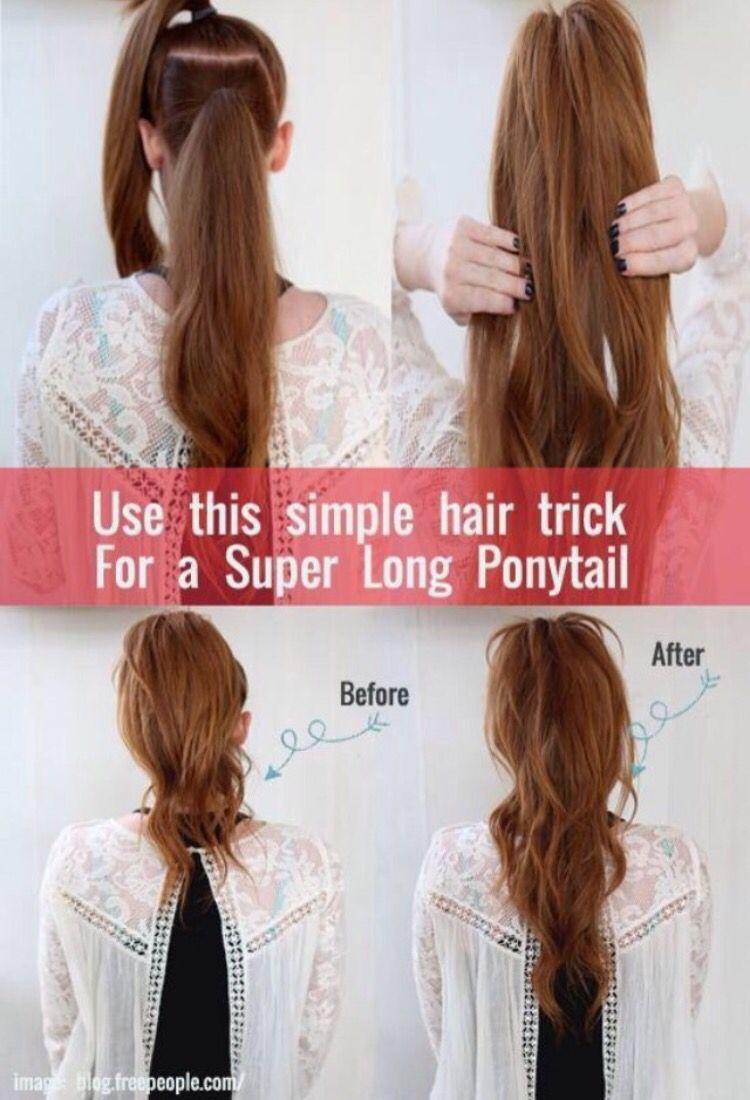 Make a longer fuller ponytail things i love pinterest fuller