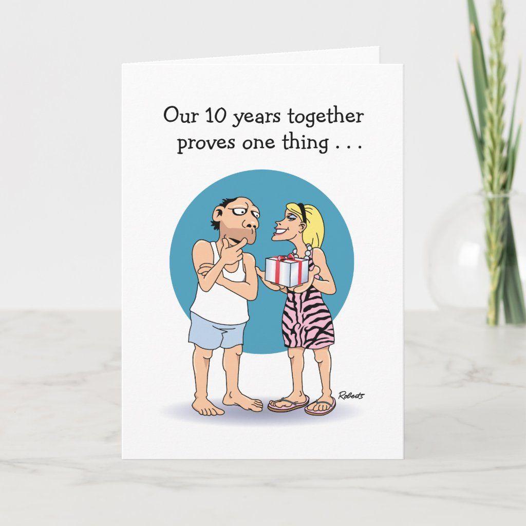 Love Is 10th Anniversary Card Zazzle Com In 2021 Wedding Anniversary Greeting Cards Anniversary Greeting Cards Funny Anniversary Cards