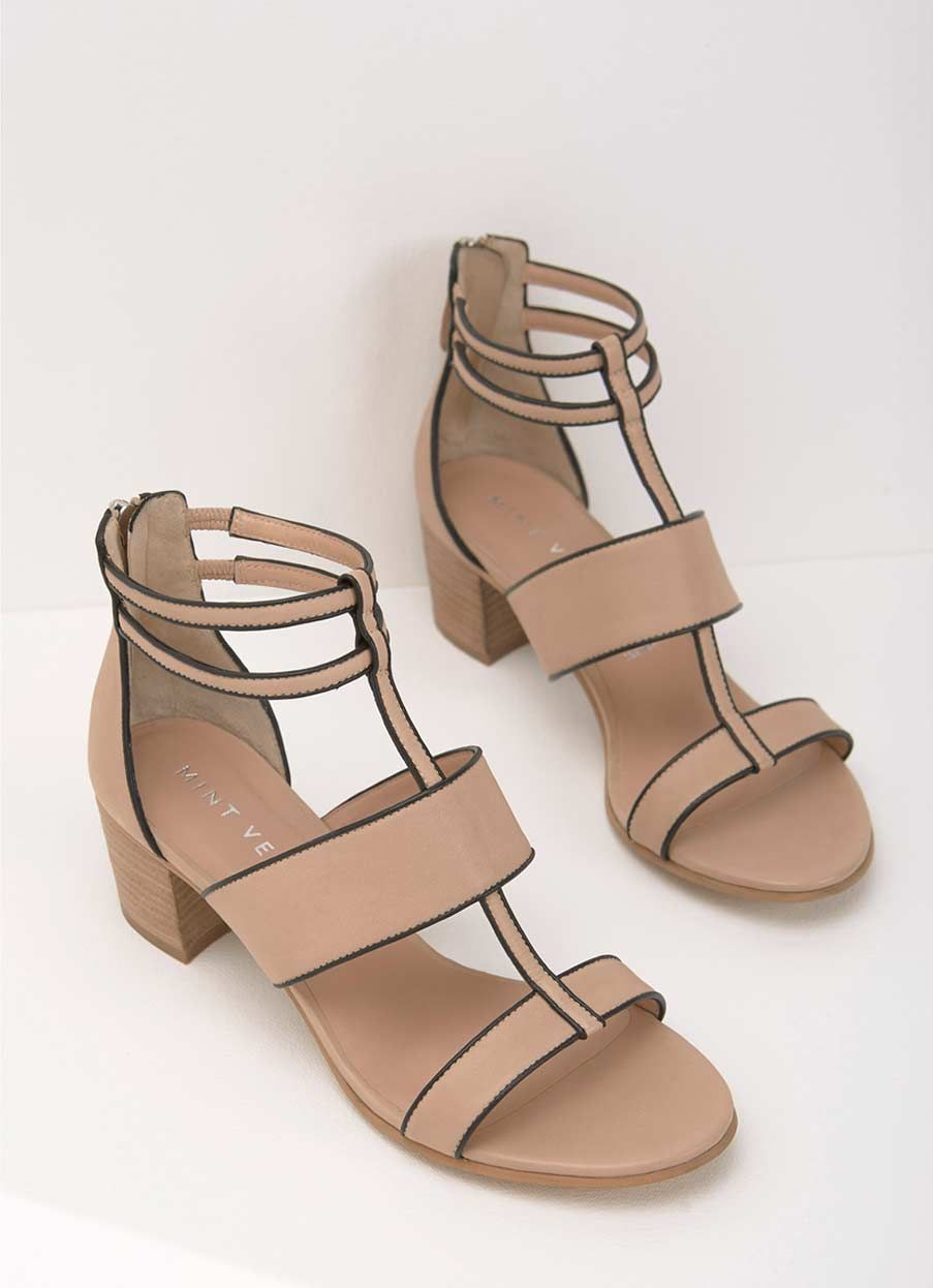 ed9f84e202f9 Alana Neutral Leather Sandals in 2019